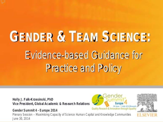 Gender & Team Science: Evidence-based Guidance for Practice and Policy