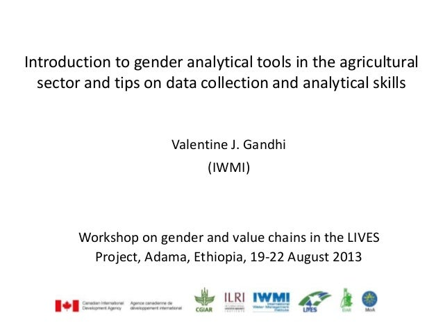 Introduction to gender analytical tools in the agricultural sector and tips on data collection and analytical skills Valen...