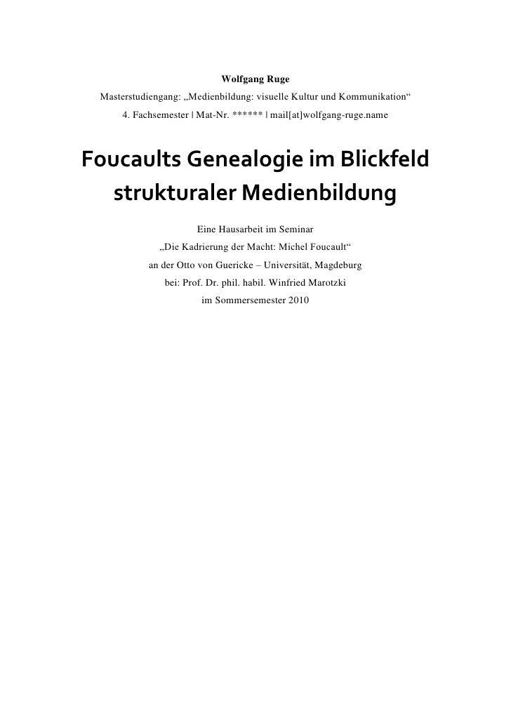 Genealogie im blickfeld struktraler medienbildung webversion