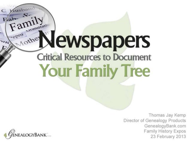 NewspapersCritical Resources to Document Your Family                    Tree                              Thomas Jay Kemp ...