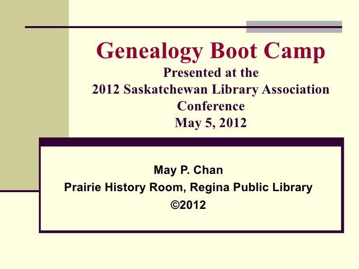 Genealogy Boot Camp