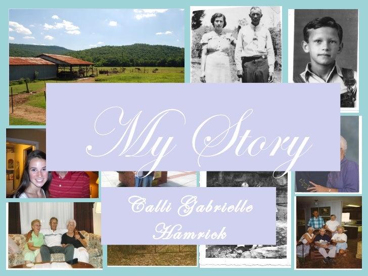 My Story Calli Gabrielle   Hamrick