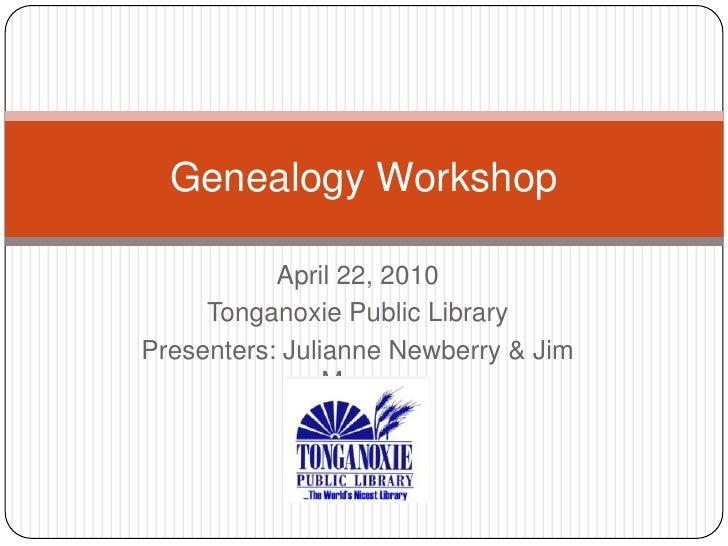 Genealogy workshop