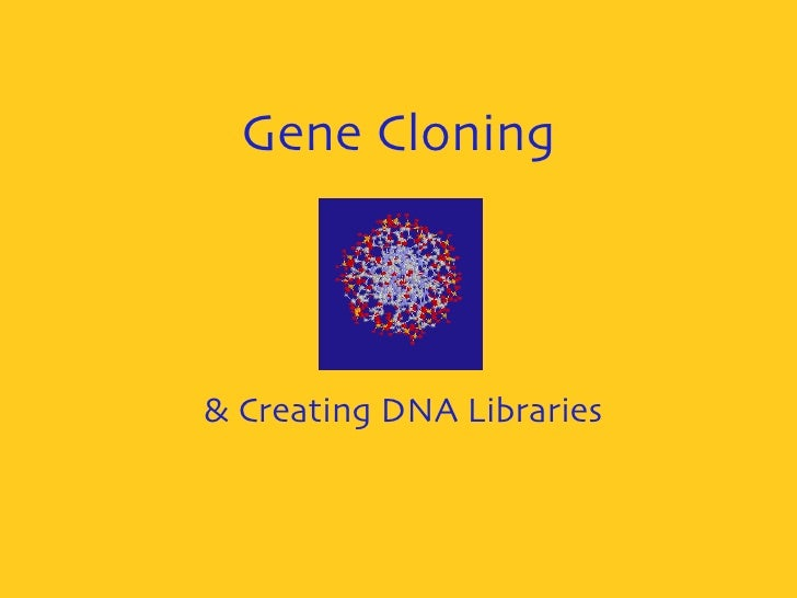 Gene Cloning & Creating DNA Libraries