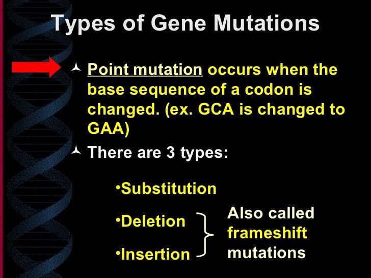 Human genetic mutations