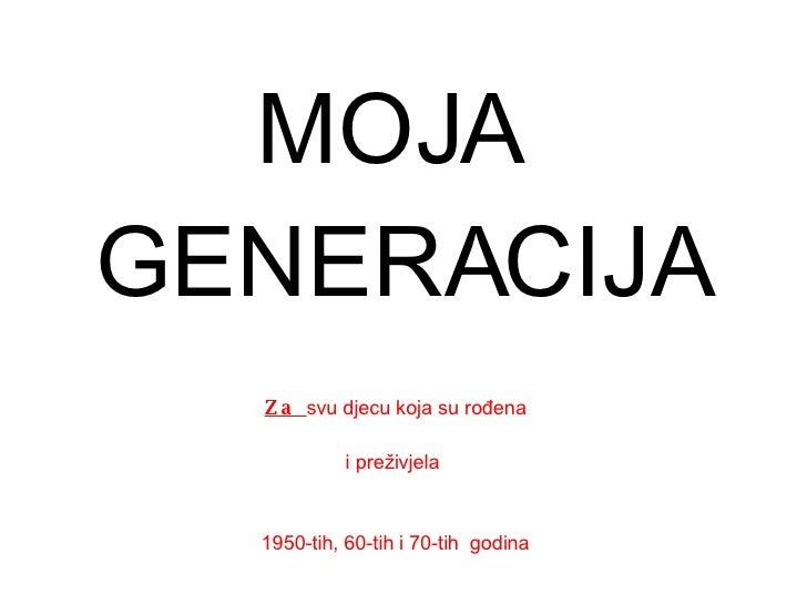 Generacije 50ih, 60ih i 70ih