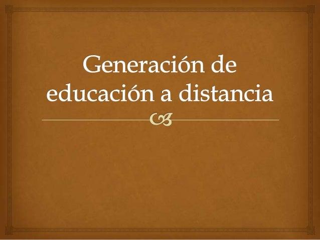 Generación 1