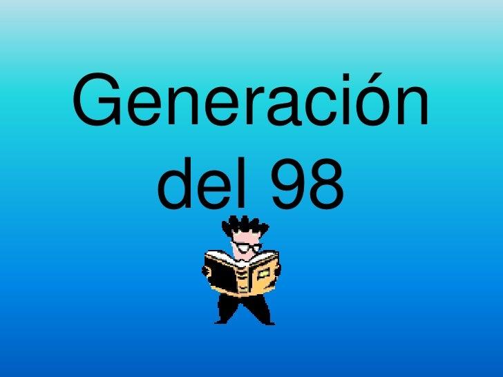 Generación del 98<br />
