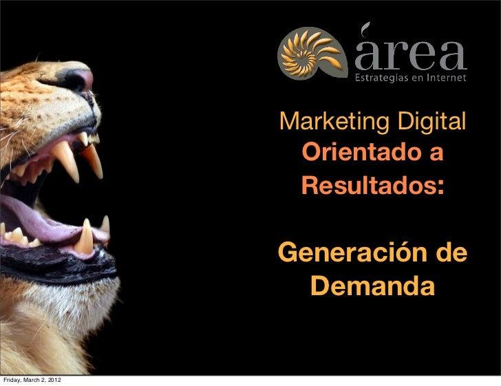 Marketing Digital                                                       Orientado a                                       ...