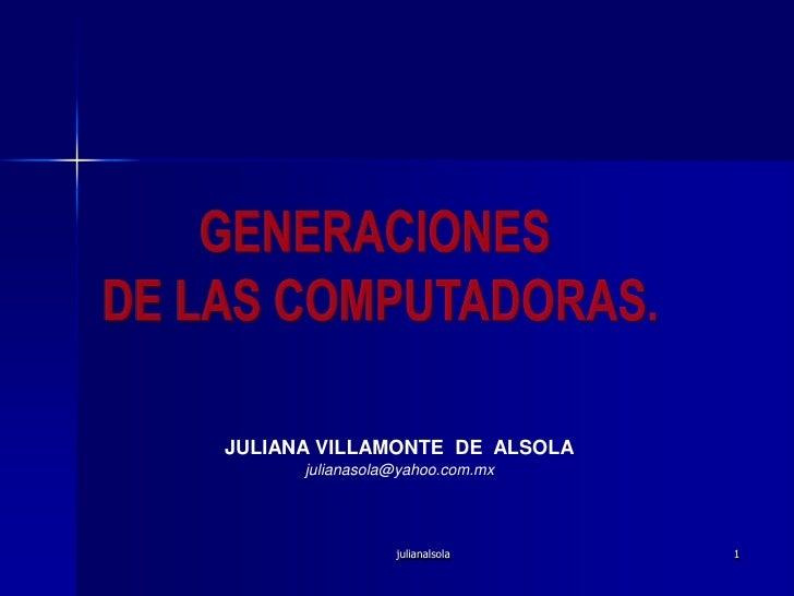 Generaciones De La Computadoras