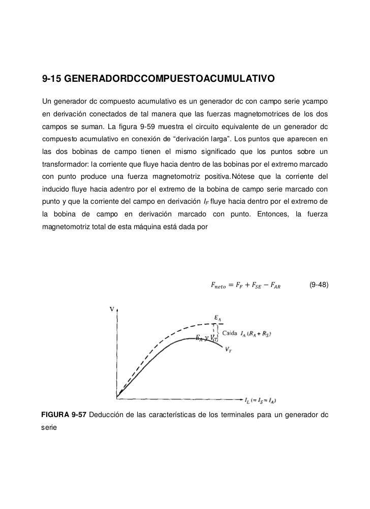 9-15 GENERADORDCCOMPUESTOACUMULATIVOUn generador dc compuesto acumulativo es un generador dc con campo serie ycampoen deri...