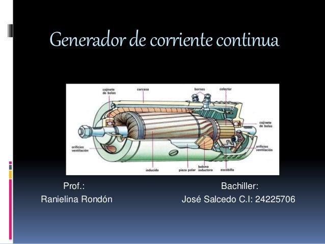 Generador de corriente continua - Generadores de corriente ...