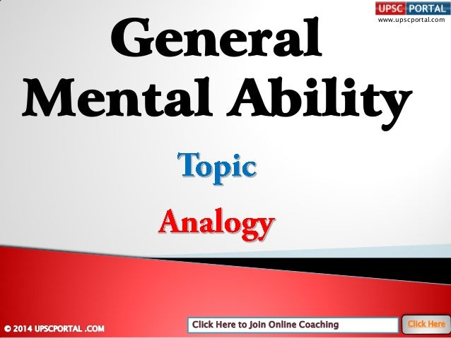 General mental-ability-analogy