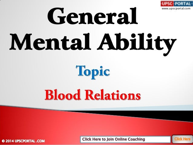 General mental-ability-blood-relations