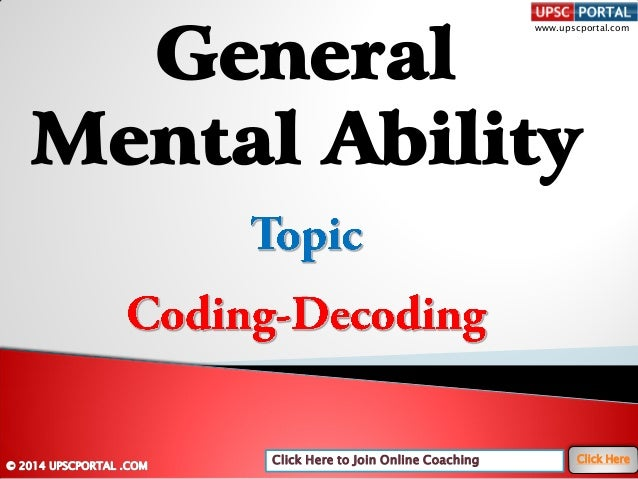 General mental-ability-coding-decoding