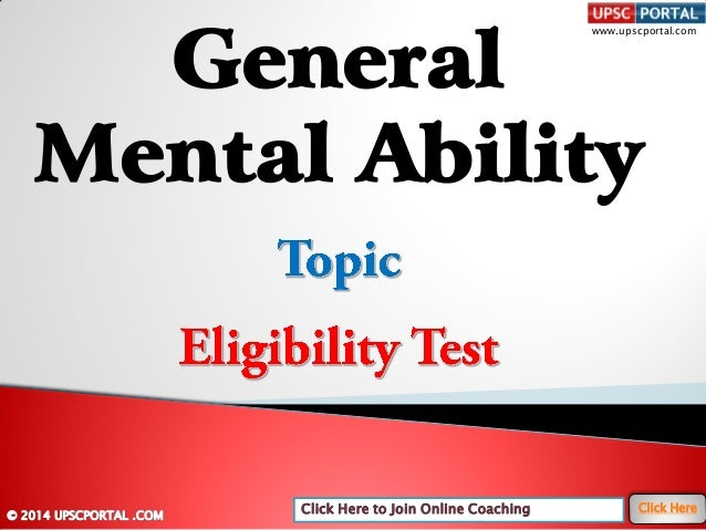 General mental-ability-eligibility-test