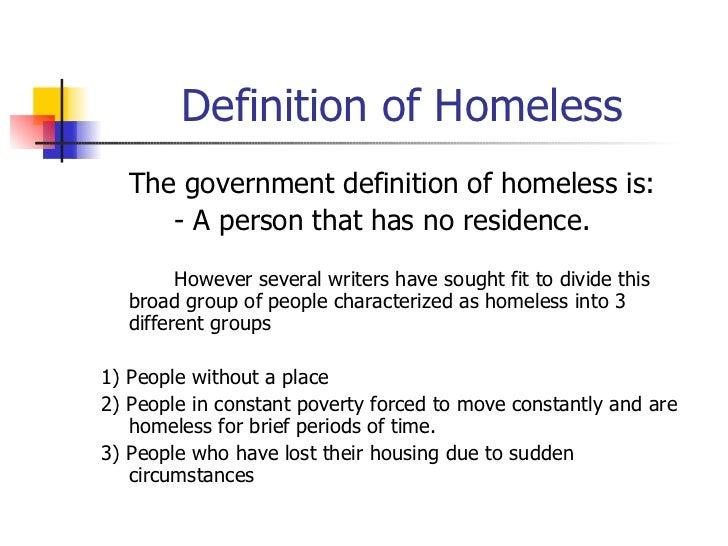 Homelessness Essays