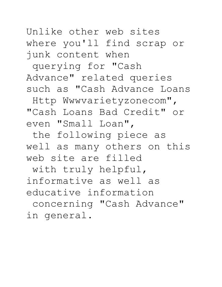 General Tips for Cash Advance
