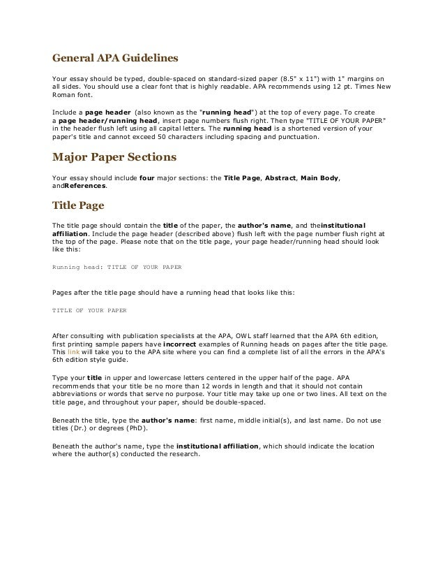 essay heading apa format our mini guide on apa style essay will help you gain understanding