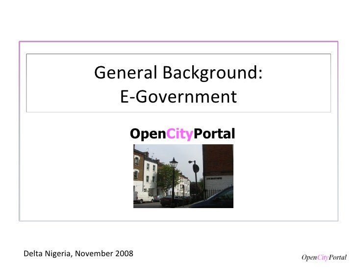 General Background And E Gov