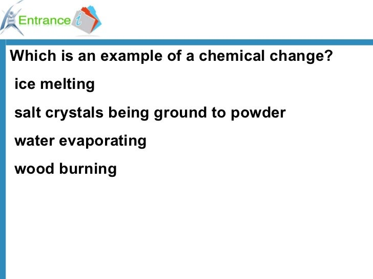 How is burning a piece of paper considered a chemical change (in terms of chemistry?)?
