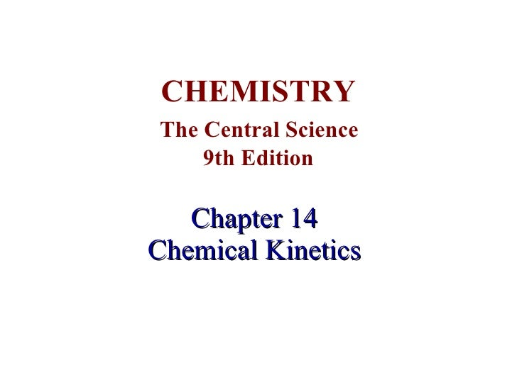 General chemistry ii chapter 14