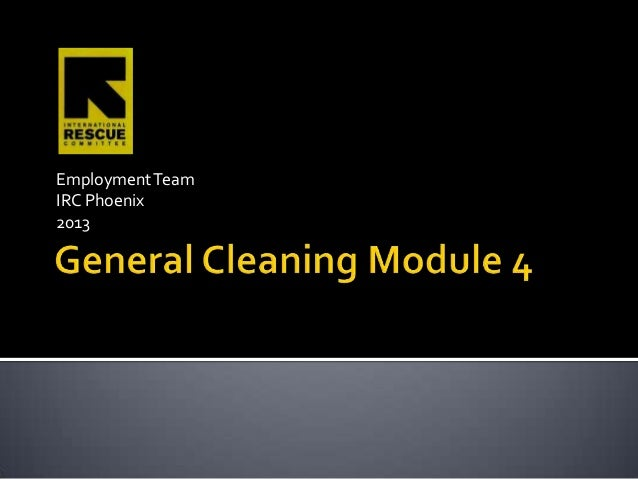 General Cleaning Module 4 PowerPoint