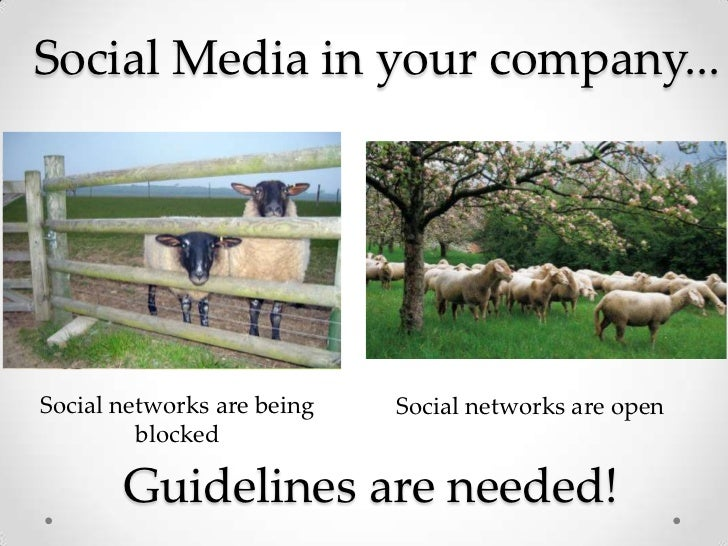 Social Media in your company...<br />Social networks are being blocked<br />Social networks are open<br />Guidelines are n...
