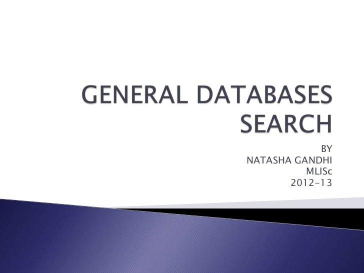 BYNATASHA GANDHI          MLISc       2012-13