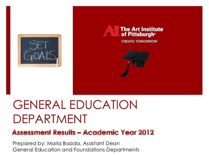 GENERAL EDUCATIONDEPARTMENTPrepared by: Maria Boada, Assistant DeanGeneral Education and Foundations Departments