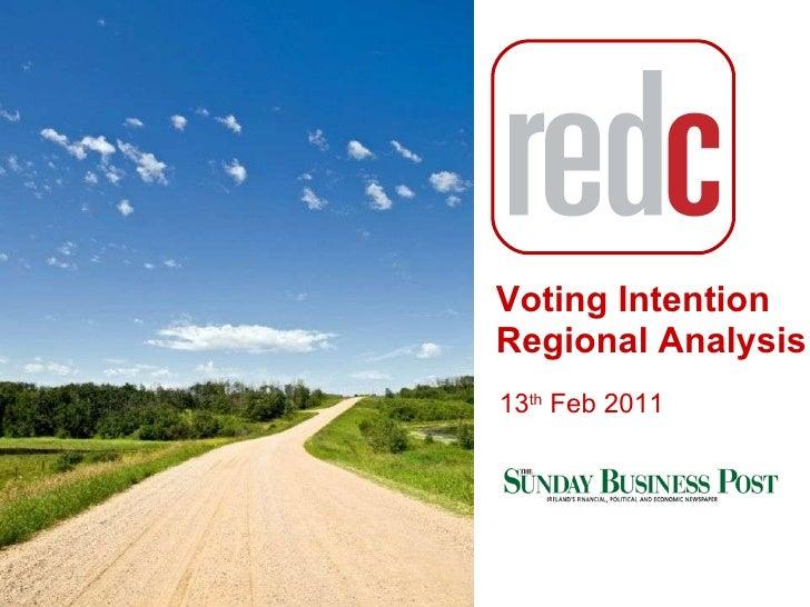 General Election Regional Analysis  13th feb 2011