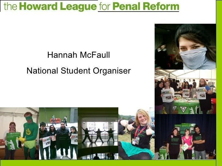 Hannah McFaull National Student Organiser