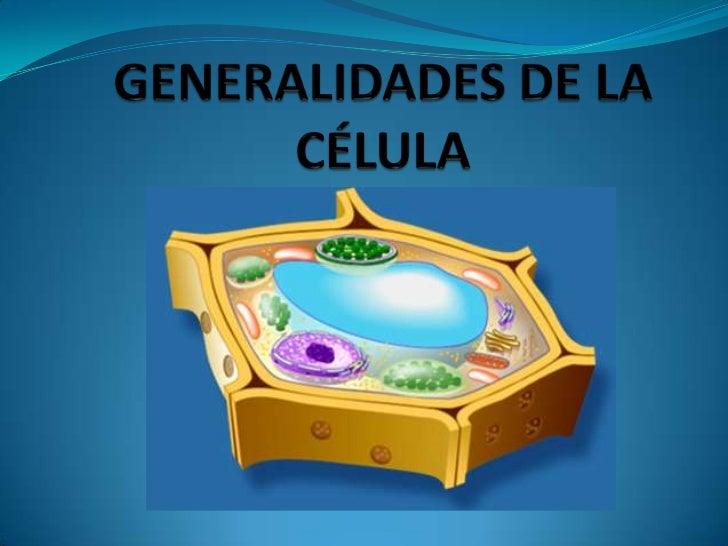 Generalidades de la célula