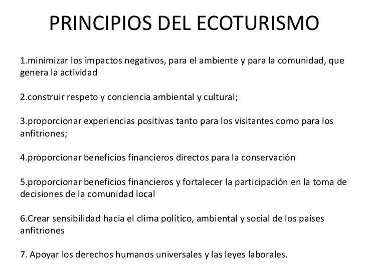 PRINCIPIOS DEL ECOTURISMO