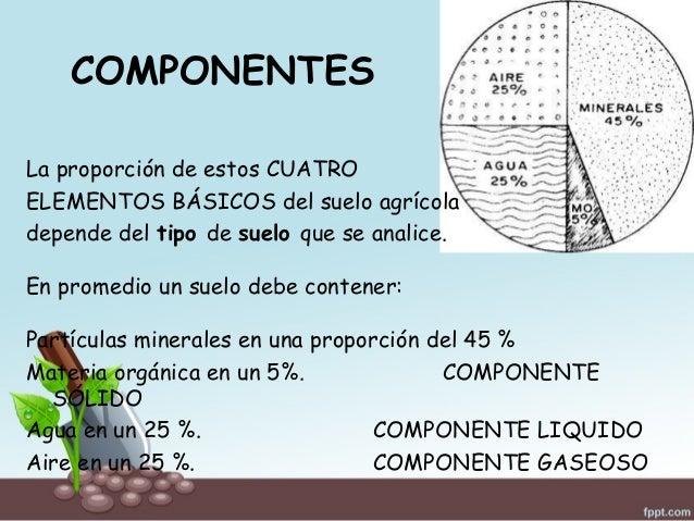 Generalidades del suelo agr cola for Componentes quimicos del suelo