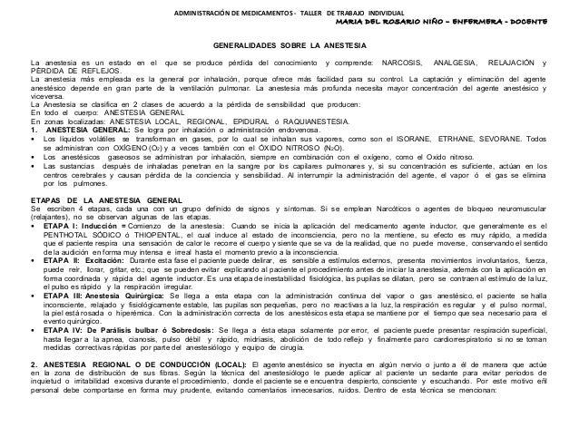 ADMINISTRACIÓN DE MEDICAMENTOS - TALLER DE TRABAJO INDIVIDUAL                                                             ...