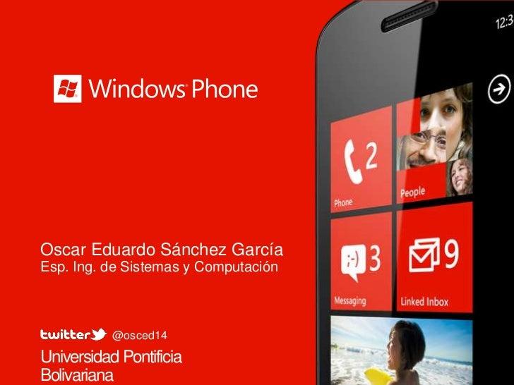 Generalidades sobre windows phone 7.5