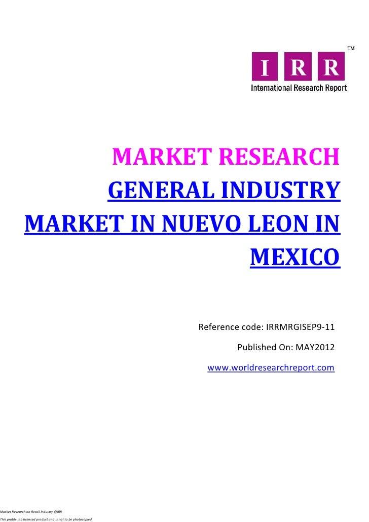 General industry market in nuevo leon in mexico