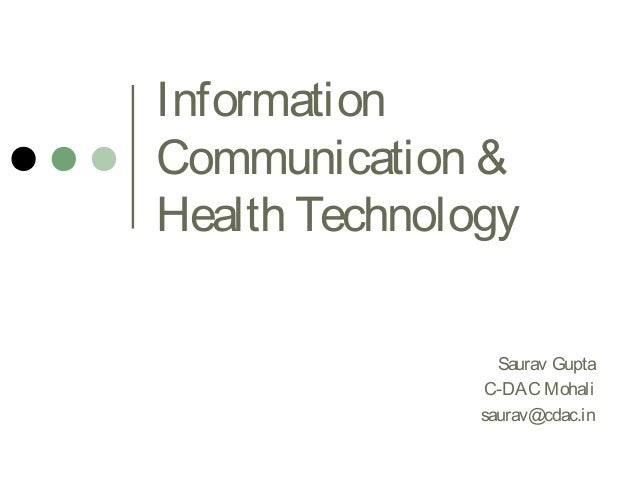 Information, communication & Health Technology