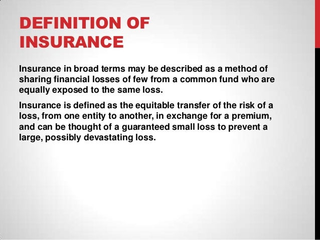 Insurance Definition Indemnity