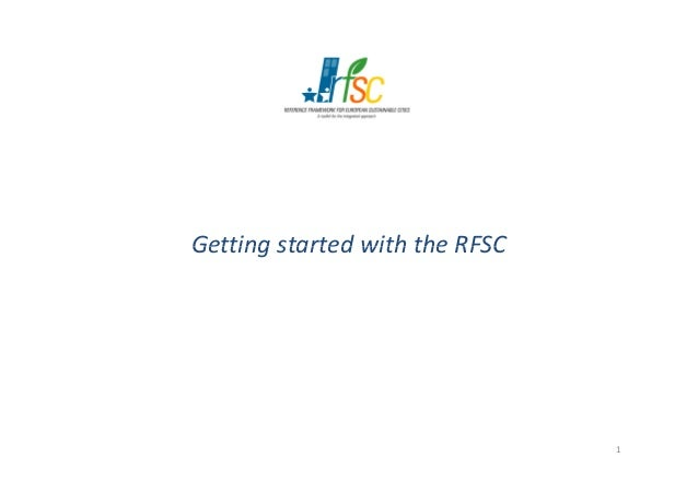 Getting started with the RFSC