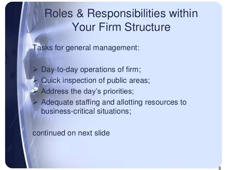 kbr roles and responsibilities within an