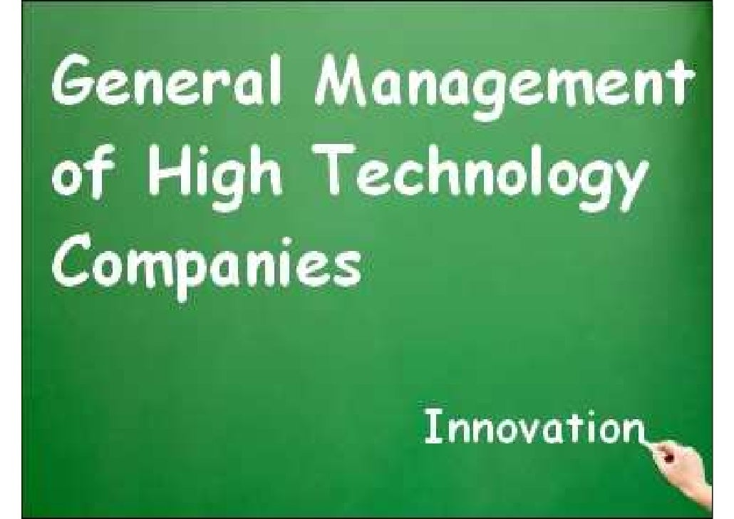 General Management of High Technology Companies     The basic concepts (1/3)       Managing is to :            Plan       ...