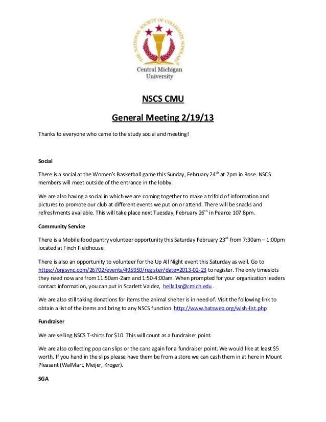 General meeting 2 19-1