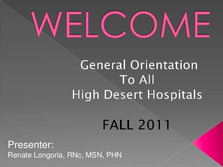 VVC Nursing : General Orientation : Fall 2011