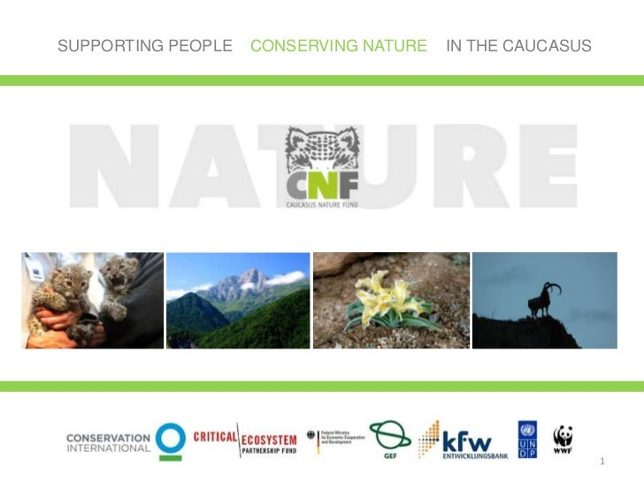 SUPPORTING PEOPLE   CONSERVING NATURE   IN THE CAUCASUS                                                          1