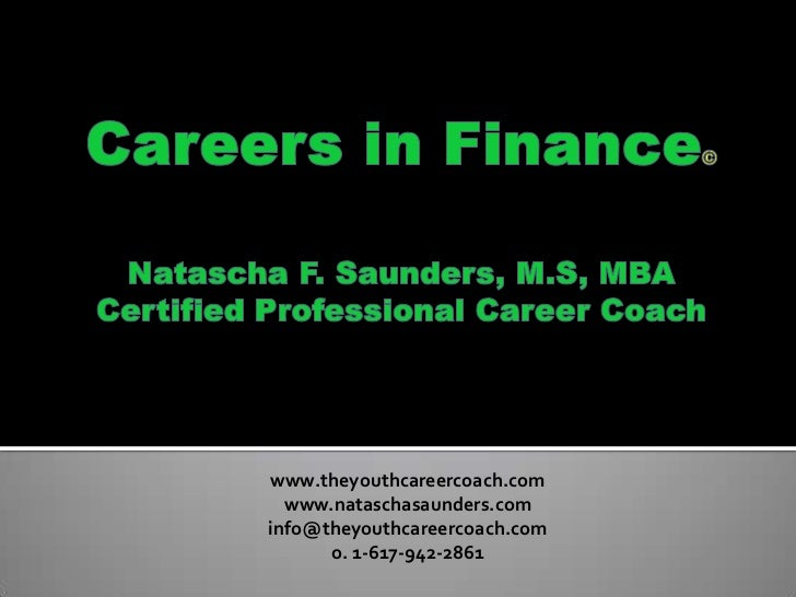 Careers in Finance for Students