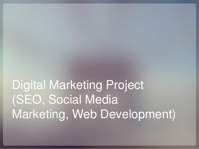 Digital Marketing Project (SEO, Social Media Marketing, Web Development)