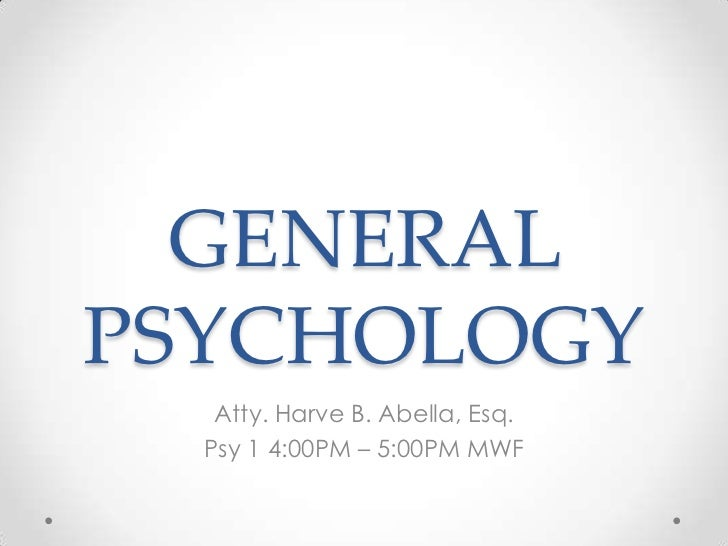General psych intro