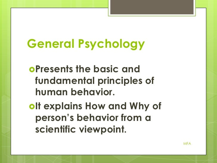 What can I expect in general psychology?